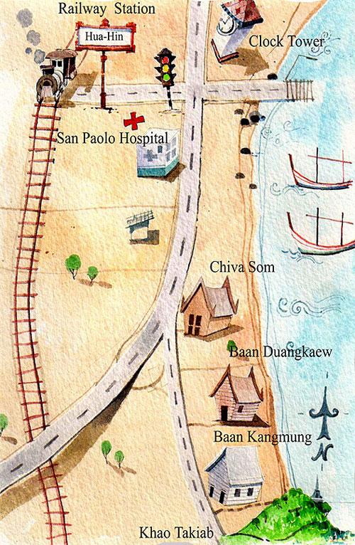 แผนที่ บ้านกางมุ้ง